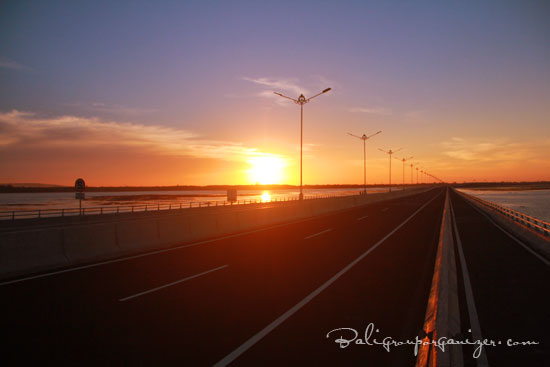 Bali New Toll Road Sunset