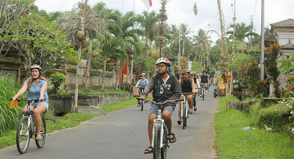 cycling at balinese village
